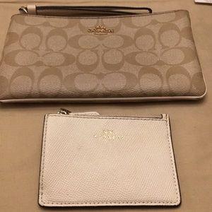 Coach clutch purse and wallet cardholder bundle